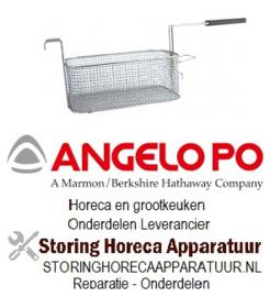 790970175 - Friteusekorf L1 288mm B1 190mm H1 115mm L2 570mm H2 135mm H3 185mm staal verchroomd ANGELO-PO