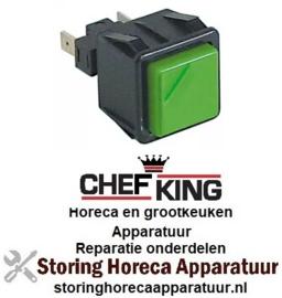 265301178 - Drukschakelaar tastend vierkant groen voor vaatwasser CHEFKING