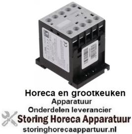 303380087 - Relais AC1 16A 230VAC (AC3-400V) 5A-2,2kW hoofdcontact 3NO hulpcontact 1NO