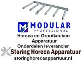 551105167 - Staafbrander 6-rijen L 560mm B 940mm H 40mm kantel braadpan MODULAR