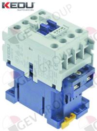 381208 - Relais AC1 32A 240VAC (AC3/400V) 16A/7,5kW hoofdcontact 3NO hulpcontact 1NO