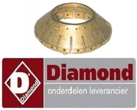 119.672.098.00 - Branderring voor branderdeksel ø 61mm voor gasfornuis DIAMOND G65/6BP11-EC