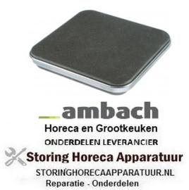 124490066 - Kookplaat maat 220 x 220 mm 2600W 230V AMBACH