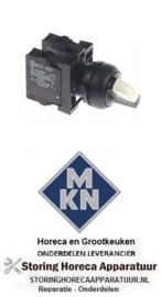 836346461 - Draaischakelaar inbouw ø22mm 1NC/1NO voor MKN