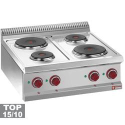 E7/4P7T - Elektrische kookplaat 4 ronde platen -Top- DIAMOND