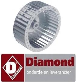 819.644.000.00 - Ventilatorblad voor motor oven fornuis  DIAMOND E65/4PFV7