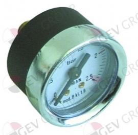 """541261 -  Manometer ø 44mm drukbereik 0 tot 2,5bar draad 1/8"""" aansluiting keerzijde"""