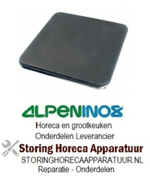 VE194490054 - Kookplaat 2.500W / 230V 300x300mm met rvs rand ALPENINOX