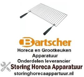 569210260 - Oplegrooster B 250mm D 450mm staal verchroomd met grepen passend voor salamander BARTSCHER