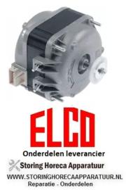 215.6018.91 - Ventilatormotor ELCO 16W 230V 50/60Hz lager glijlager aansluiting Plug In 1300/1550U/min