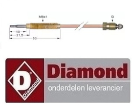 237.256.074.00 - Thermokoppel gas friteuse DIAMOND G65/F16-7T
