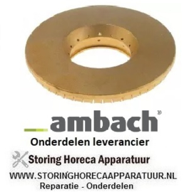 961104381 - Branderdeksel D ø 125mm  AMBACH