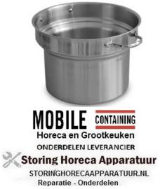 95.8235 - Binnenpan met twee handgrepen – ca. 9 liter Mobile Containing