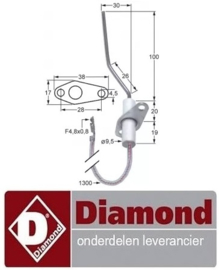78091310490 - Bougie voor pizza oven DIAMOND GS633/1D-A5-HL