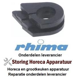 40051210040 - Lager voor deur  rubber inbouwpositie links RHIMA DR51