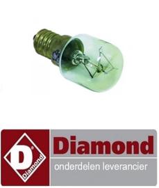 01991310190 - Gloeilamp t.max. 300°C fitting E14 15W 230V ø 22mm L 47mm glas L 20mm DIAMOND MACRO42