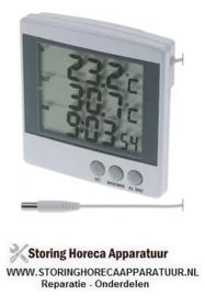 037381349 - Thermometer -50 tot +70°C grootte 100x100 beeldscherm digitaal, met batterij