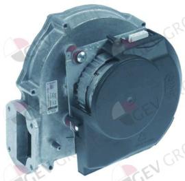 601295 - OVEN Radiaalventilator / Branderventilator  230V spanning AC 50Hz 50W H1 180mm L1 180mm D1 ø 43mm B1 105mm B2 33mm