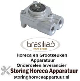 """424400255 - Doorstroommeter draad 1/8"""" RVS met LED steekaansluiting BRASILIA"""