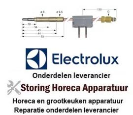 186107164 - Thermokoppel met onderbreker M9x1 L 1000mm steekhuls ø6,0(6,5)mm soldeeraansluiting ELECTROLUX