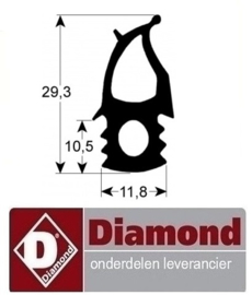 8330C1477 - Deurrubber DIAMOND SDE/10-CL