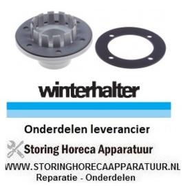 343502124 - Afvoerventiel slang ø DN40mm met pakking  WINTERHALTER