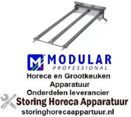 185104689 - Staafbrander 3 rijen L 620mm B 250mm ø 27mm voor grill MODULAR