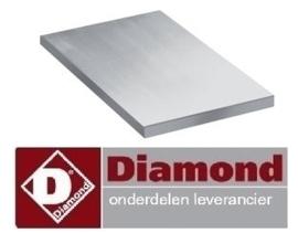 227A77/PL2B - Vlakke plaat voor 2 branders DIAMOND