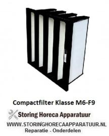 Compactfilter V-vorm inter-V  klasse M6-F9