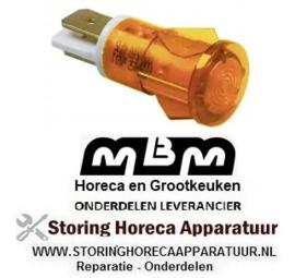 183359143 - Signaallamp ø 13mm geel friteuse MBM EF77