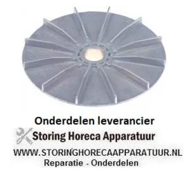 640601669 - Ventilatorblad voor motorkoeling AD ø 128mm H 20mm asafname ø 17mm