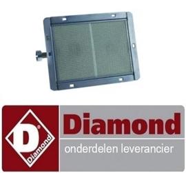 509E01005 - Keramischebrander brandbereik 178x125 voor gyrosgrill DIAMOND KEB-G61/G81+FSM-12GT/N