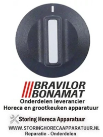 3836014002024 - Knop nulstreep zwart waterkoker BRAVILOR HW520