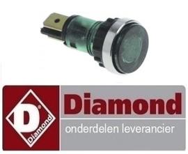 4116.63.043.00 - Signaallamp groen pastakoker DIAMOND E60/CP6T(230V/3)
