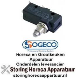 403345156 - Microschakelaar met drukstift pen bediend 250V 16A 1CO draad M10x1 SOGECO