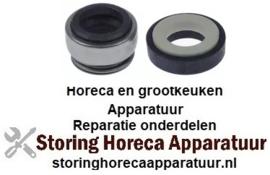 025510693 - Glijring dichting voor schacht ø 12mm schuifring buiten ø 24mm schuifring H 15,5mm