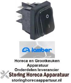 952301202 - Wipschakelaar 2NO 250V 20A 0-1 voor vaatwasser LAMBER