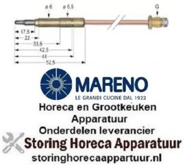 3711.076.14 - Thermokoppel M9x1 L 1500mm steekhuls ø6,0(6,5)mm MARENO
