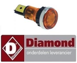 3106.63.044.00 - Signaallamp oranje pastakoker DIAMOND E60/CP6T - 230/3