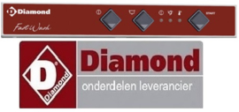 147227073 - Drukknop grijs voor vaatwasser DIAMOND