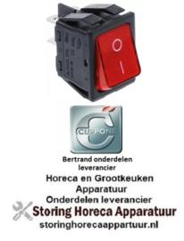 983301020 - Wipchakelaar 250V 16A verlicht 0-I voor CUPPONE
