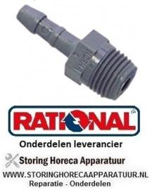 21340361100 - Slangaansluiting kunststof recht draad M10x1 slang ø 6mm  aansluiting M10x1 RATIONAL
