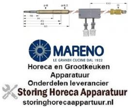 9961.071.77 - Thermokoppel met onderbreker M9x1 L 600mm steekhuls ø6,0mm F 6,3mm MARENO