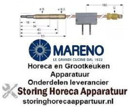 7621.078.64 - Thermokoppel met onderbreker M9x1 L 600mm steekhuls ø6,0(6,5)mm soldeeraansluiting MARENO