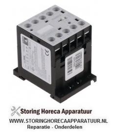 093381102 - Relais AC1 20A 24VAC (AC3/400V) 9A/4kW hoofdcontact 4NO