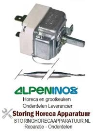 VE143375055 - Thermostaat 35°-112°C 1-polig wisselcontact voeler 130/Ø6 mm capillair 1500 mm ALPENINOX