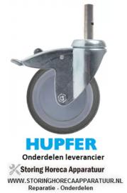1697.002.89 - Zwenkwiel met totale rem ø 125 mm HUPFER