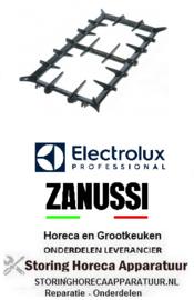 128210122 - Gasfornuis brander rooster B 340mm L 730mm Electrolux, Zanussi