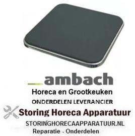 164490073 - Kookplaat maat 300 x 300 mm 3000W 400V AMBACH