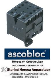 453380092 - Relais AC1 20A 230VAC (AC3/400V) 12A/5,5kW hoofdcontact 4NO voor ASCOBLOC